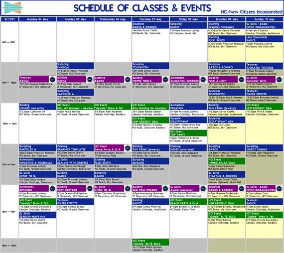 nci-class-event-schedule