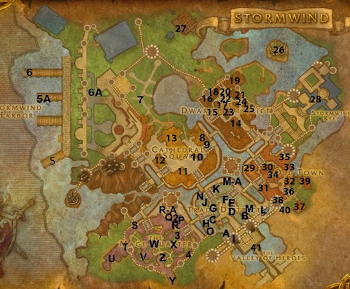A detailed map of stormwind vendors and trainers share this gumiabroncs Choice Image