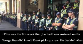 George Brandis Likes His Lunch