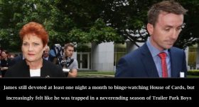 James Ashby Attempts To Keep The Faith