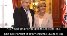 Julie Bishop Meets Boris Johnson