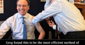 Greg Hunt Gets Efficient